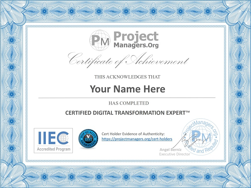 Certified Digital Transformation Expert